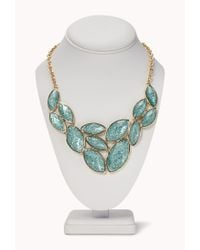 Forever 21 | Blue Sparkle Bib Necklace | Lyst