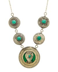 Natalie B. Jewelry | Green Esmeralda Necklace | Lyst