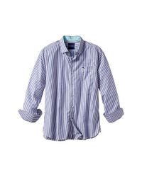 Tommy Bahama | Blue 'paradise Island Stripe' Pima Cotton Sport Shirt for Men | Lyst