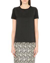 'S Max Mara | Black Bagnato Embellished Linen-blend Top | Lyst