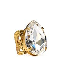 Sorrelli - Metallic Crystal Clear Cocktail Ring - Lyst