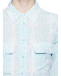 Equipment - Blue 'slim Signature' Mosaic Print Silk Shirt - Lyst