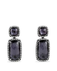 David Yurman   Purple Châtelaine Double Drop Earrings With Black Orchid And Gray Diamonds   Lyst
