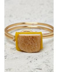 Forever 21 - Yellow Janes Tiny Things Grilled Cheese Midi Ring - Lyst