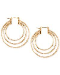 Lucky Brand | Metallic Triple Hoop Earrings | Lyst