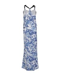 Patrizia Pepe - Blue Long Dress - Lyst