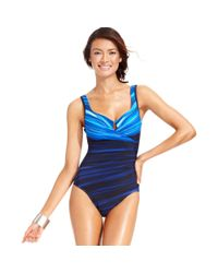 Miraclesuit | Blue Escape Printed One-piece Swimsuit | Lyst