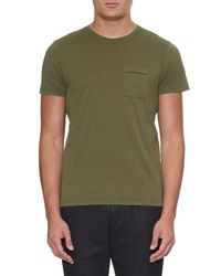 Oliver Spencer | Green Envelope Crew-Neck Jersey T-Shirt for Men | Lyst