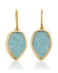 Monica Vinader - Metallic Atlantis Flint Drop White Chalcedony Earrings - Lyst