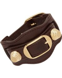 Balenciaga - Brown Arena Giant Bracelet - Lyst