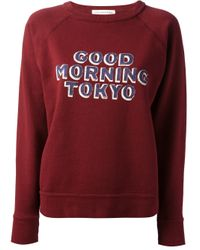 Étoile Isabel Marant - Red Halen Good Morning Tokyo Printed Sweatshirt - Lyst