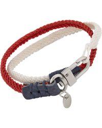 Caputo & Co. - Red Twotone Wrap Bracelet for Men - Lyst