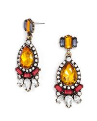 BaubleBar - Red Crystal Paisley Drops - Lyst