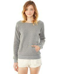 Alternative Apparel - Gray 'maniac' Pullover Sweatshirt - Lyst