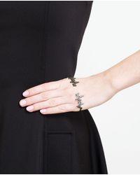 Gaydamak | Black 'kardio' Diamond Hand Bracelet | Lyst