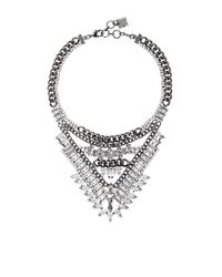 BCBGMAXAZRIA - Metallic Spike Stone Statement Necklace - Lyst