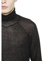 Haider Ackermann | Black Viscose & Wool Turtleneck Sweater | Lyst