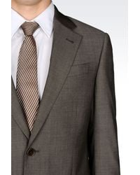 Armani - Gray Comfort Fit Suit In Virgin Wool for Men - Lyst