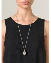 Alexander McQueen | Metallic Mohican Skull Pendant Necklace | Lyst