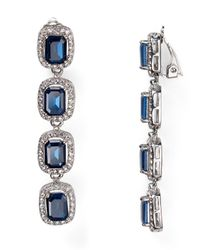 Carolee | Blue Large Linear Clip On Earrings | Lyst