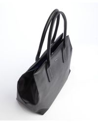 Furla - Black Leather Papermoon Tote Bag - Lyst