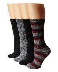 Steve Madden - Black 4-pack Boot Socks - Lyst