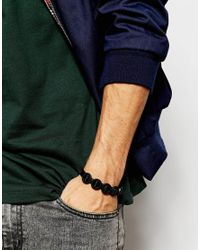 ASOS | Geometric Bracelet In Black for Men | Lyst