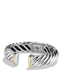 David Yurman - Metallic Waverly Bracelet With Gold - Lyst