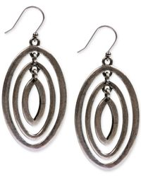 Lucky Brand | Metallic Silver-tone Orbital Drop Earrings | Lyst