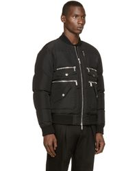 DSquared² - Black Multi Pocket Bomber Jacket for Men - Lyst