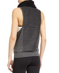 Alo Yoga | Gray Frost Winter Sleeveless Sport Sweater | Lyst