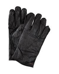 BOSS Orange - Black Buffalo Leather Gloves 'gans' for Men - Lyst