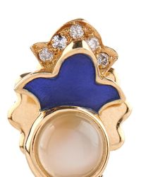 Sabine G - Metallic Diamond, Moonstone & Yellow-Gold Earrings - Lyst