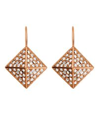 Dyrberg/Kern | Metallic Kalfani Rose Gold Earrings | Lyst