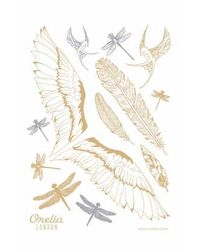 TOPSHOP - Multicolor Sparkle Wing Dragonfly Tattoos By Orelia - Lyst