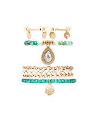 Samantha Wills - Green By My Side Bracelet Set - Lyst