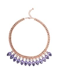 Ted Baker | Pink Emari Crystal Chain Necklace | Lyst
