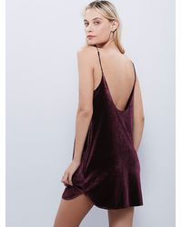 Free People | Red Intimately Womens Simply And Short Velvet Slip | Lyst