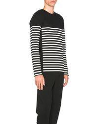 Alexander Wang | Black Striped Gel Print Long Sleeve Tee | Lyst