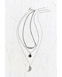 Urban Outfitters | Metallic Night Lights Layering Necklace Set | Lyst