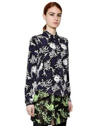 "KENZO | Black ""Smashed Mountains""-Print Blouse 