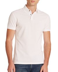 Ralph Lauren Black Label - White Mercerized Stretch-mesh Polo for Men - Lyst