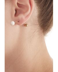 Sophie Bille Brahe - Metallic 14kt Yellow Gold Earring With Akoya Pearls - Lyst