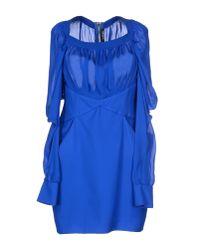 Balmain - Blue Short Dress - Lyst
