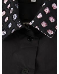 Carven | Black Cutout Shirt Collar | Lyst