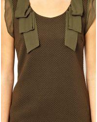 Traffic People - Green Silk Streamer Dress - Lyst