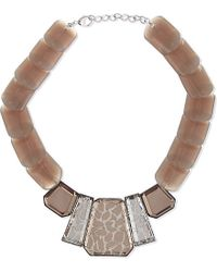 Armani | Pink Beaded Necklace - For Women | Lyst