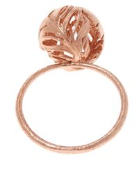 Alex Monroe | Pink Rose Gold-plated Peacock Feather Ring | Lyst