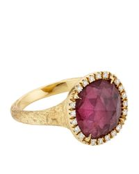Marco Bicego | Purple Jaipur Pink Tourmaline And Diamond Ring | Lyst