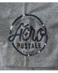 Aéropostale | Gray Times Square Oversized Tee | Lyst